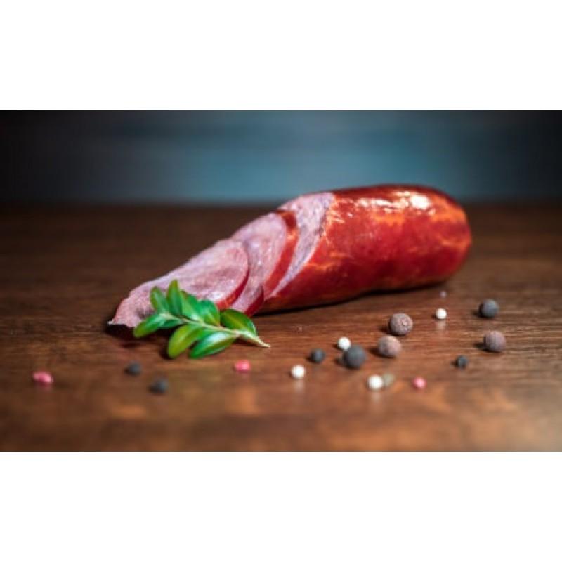 Колбаса ветчинная варено-копченая, высшего сорта, органическая 0,400-0,500 г.