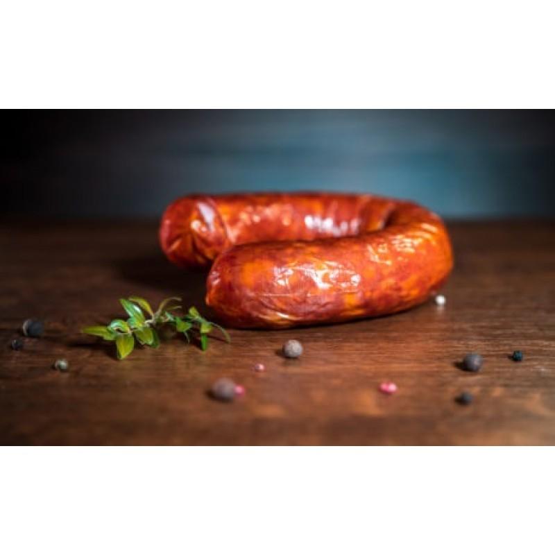 Колбаса с салом полукопченая первый сорт, органическая 0,400-0,500 г.