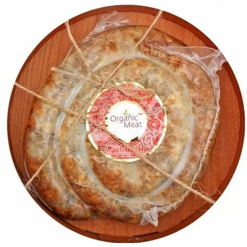 Колбаса органическая фермерская жареная 1С 0,400-0,500 г. деревянная упаковка