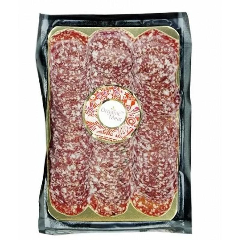 Колбаса салями Венеция сыровяленая органическая В\С 0,300-0,400 г. деревянная упаковка
