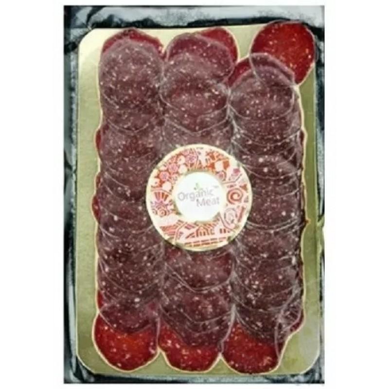 Натур салями из говядины сыровяленая В/С 0,300-0,400г деревянная упаковка