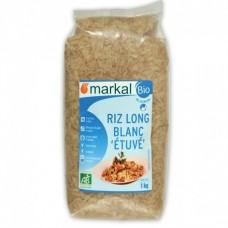 Рис белый длиннозёрный пропаренный Markal органический, 500 г