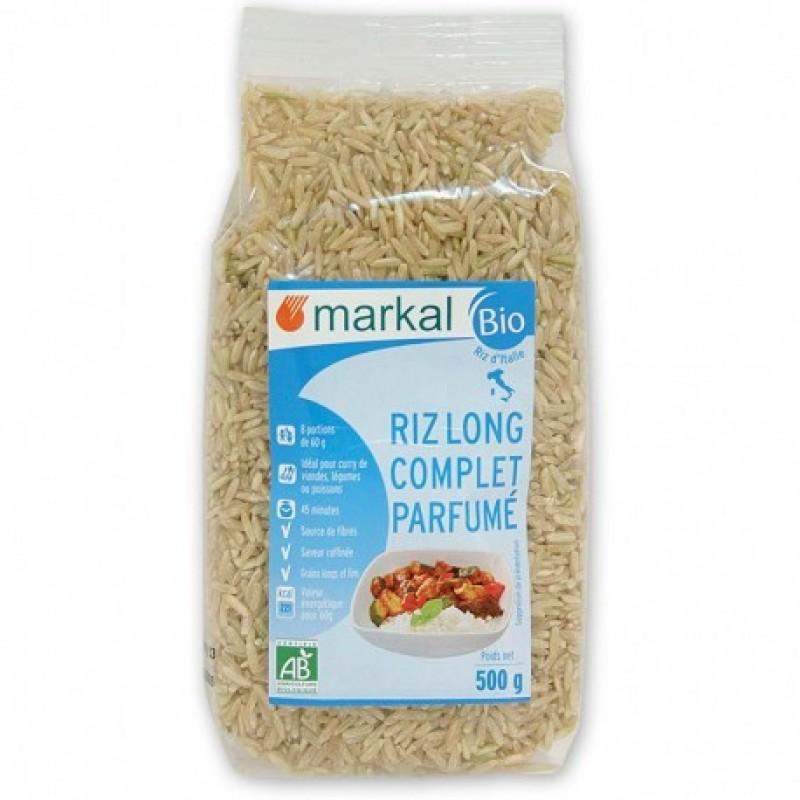 Рис длиннозёрный коричневый ароматный Markal органический, 500 г