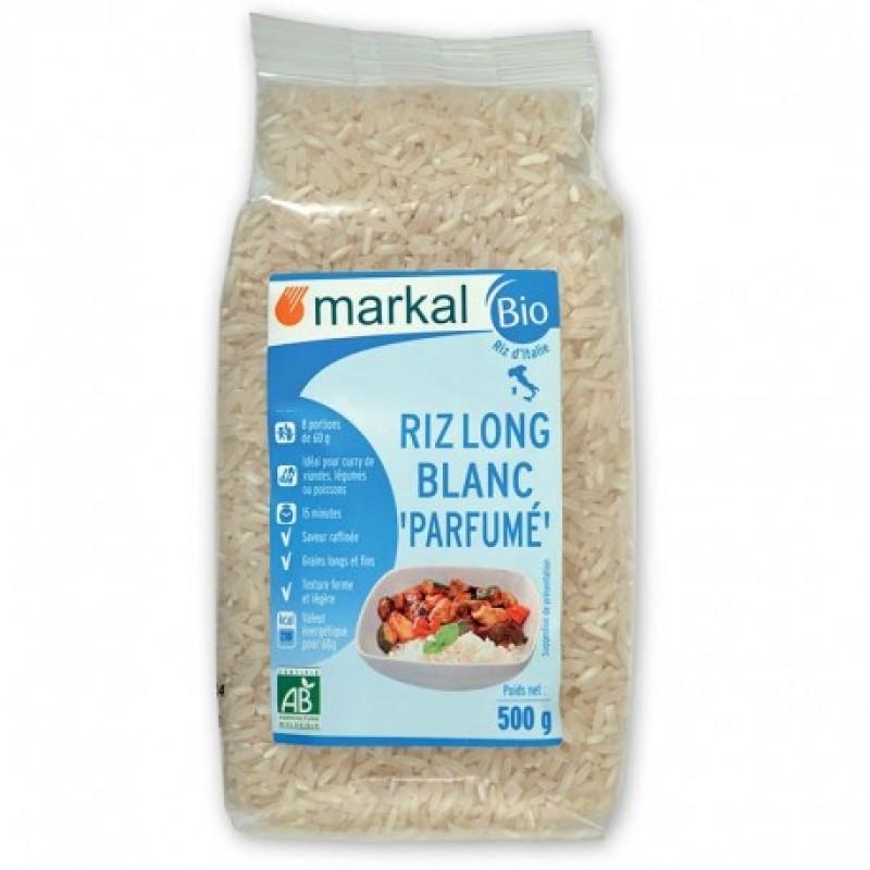 Рис белый длиннозёрный ароматный Markal органический, 500 г