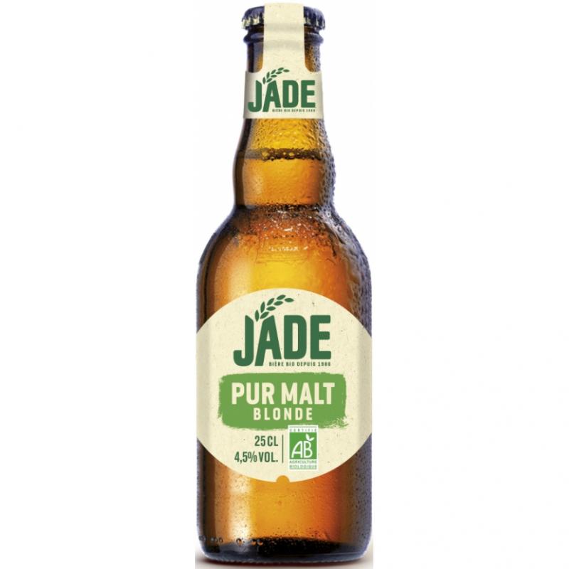 Пиво светлое органическое Jade Blonde Pur Malt, упаковка 6х250 м