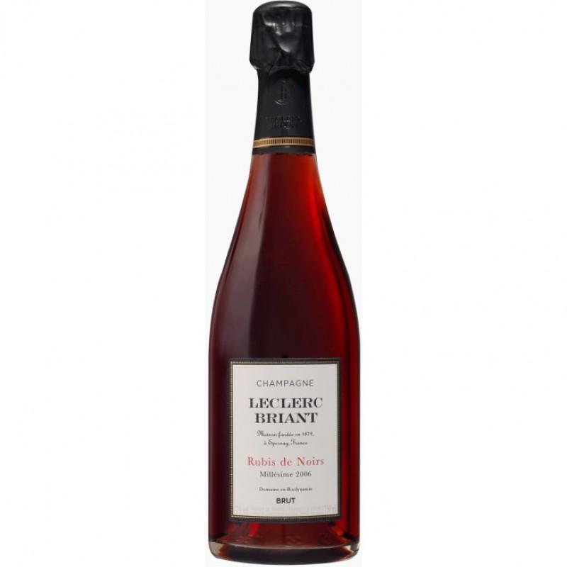 Шампанское розовое брют Leclerc Briant Rubis de Noirs Brut 2006 органическое 0,75 л