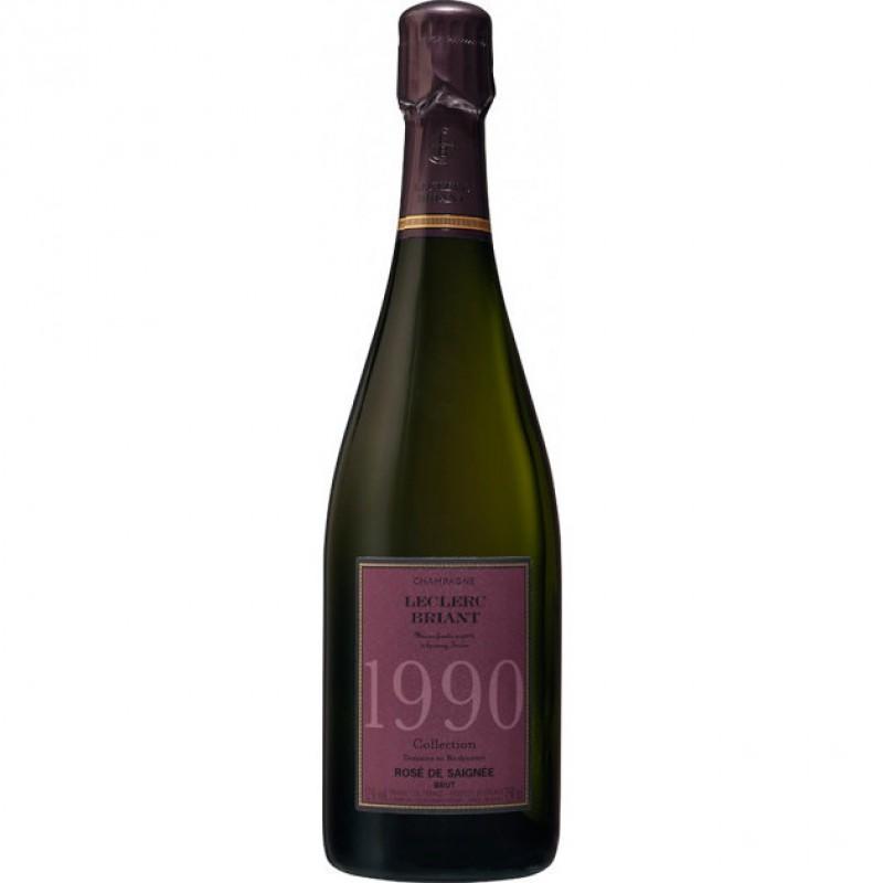 Шампанское розовое брют Leclerc Briant Collection Brut Rosé de Saignée Vintage 1990 органическое 0,75 л