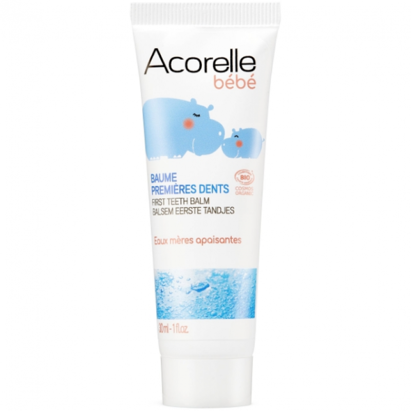 """Бальзам для полости рта успокаивающий """"Первые зубки"""" органический Acorelle, 30 мл"""