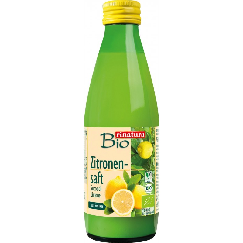 Сок сицилийских лимонов Rinatura органический, 250 мл