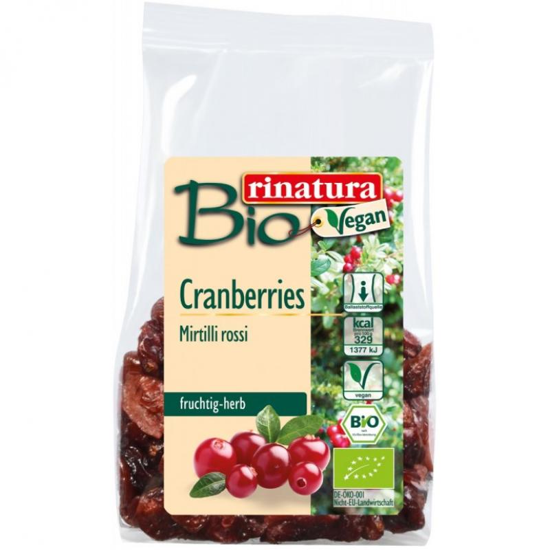 Клюква засахарённая Rinatura органическая, 100 г