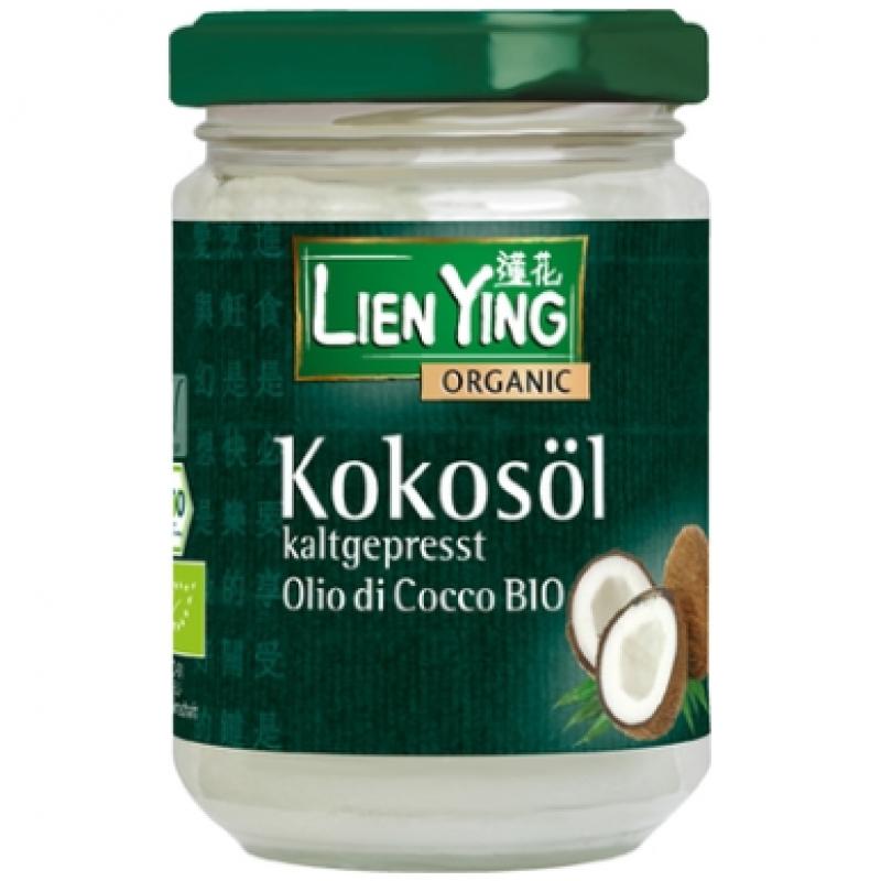 Кокосовое масло холодного отжима Lien Ying, органическое, 130 мл