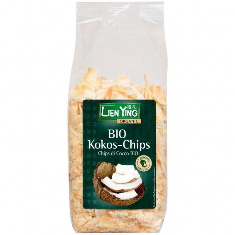 Кокосовые чипсы обжаренные Lien Ying органические, 150 г