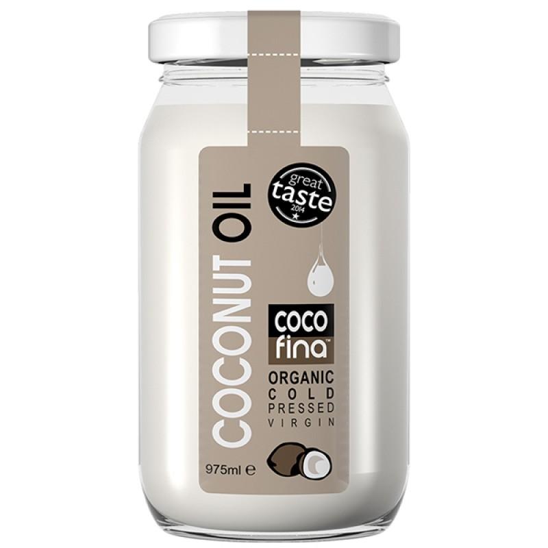 Масло кокосовое Cocofina органическое, 975 мл
