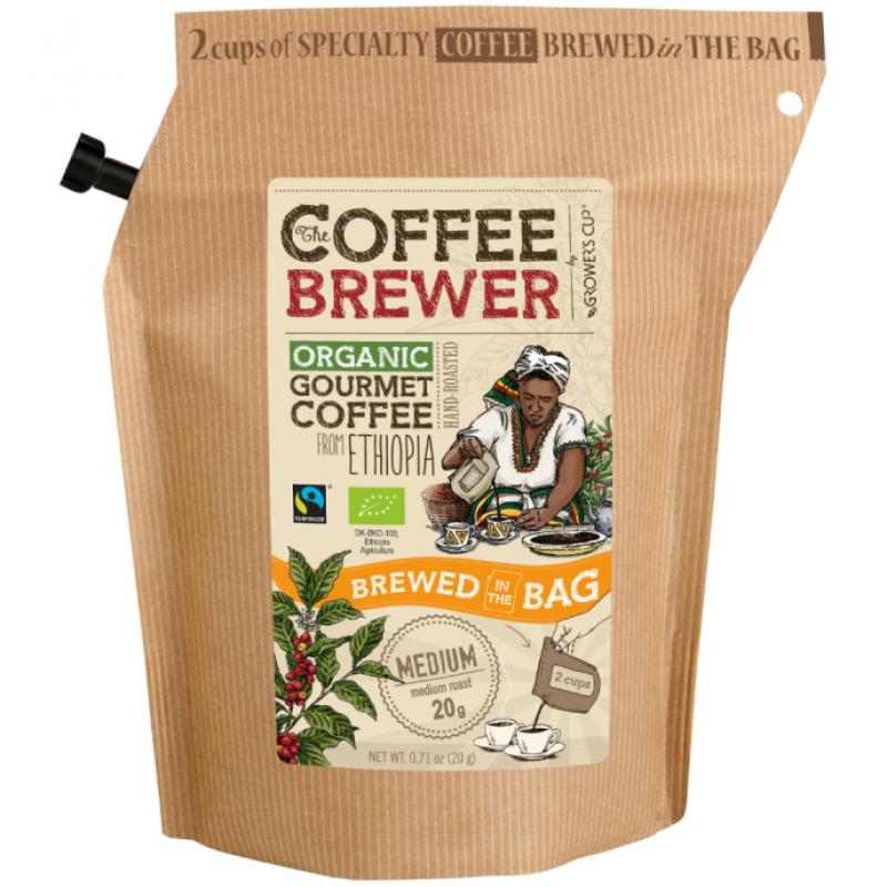 Кофе молотый Эфиопия Grower's Cup органический, 20 г