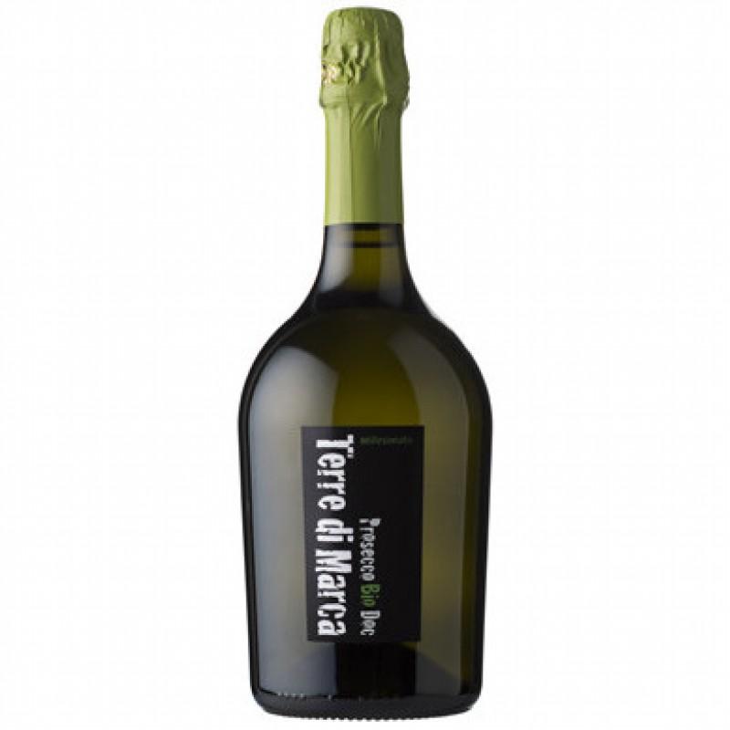Вино игристое белое экстра-сухое Prosecco Terre di Marca Millesimato органическое 0,75 л