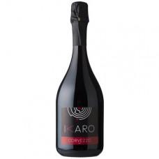 Вино игристое красное сухое Corvezzo Ikaro Raboso органическое 0,75 л