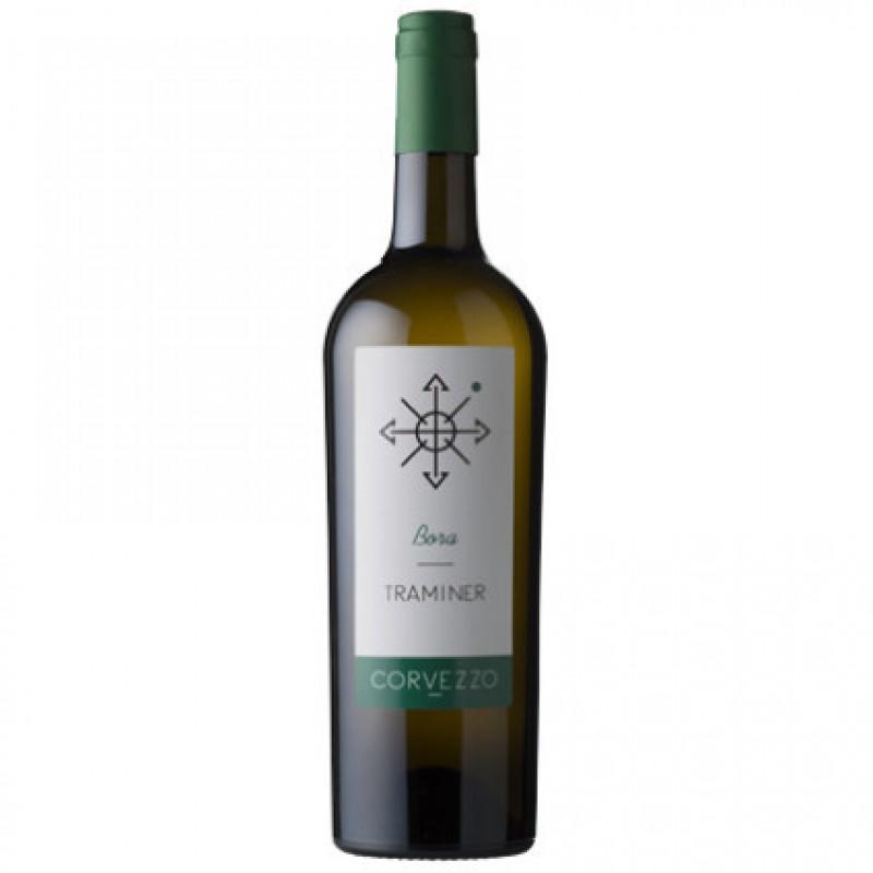 Вино белое сухое Corvezzo Traminer органическое 0,75 л