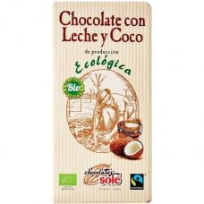 Шоколад молочный с кокосом Chocolates Solé органический, 100 г