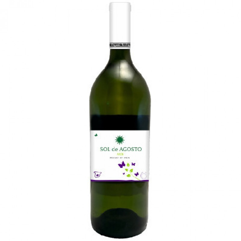 Вино белое сухое Sol de Agosto Airen 2016 органическое 1,5 л