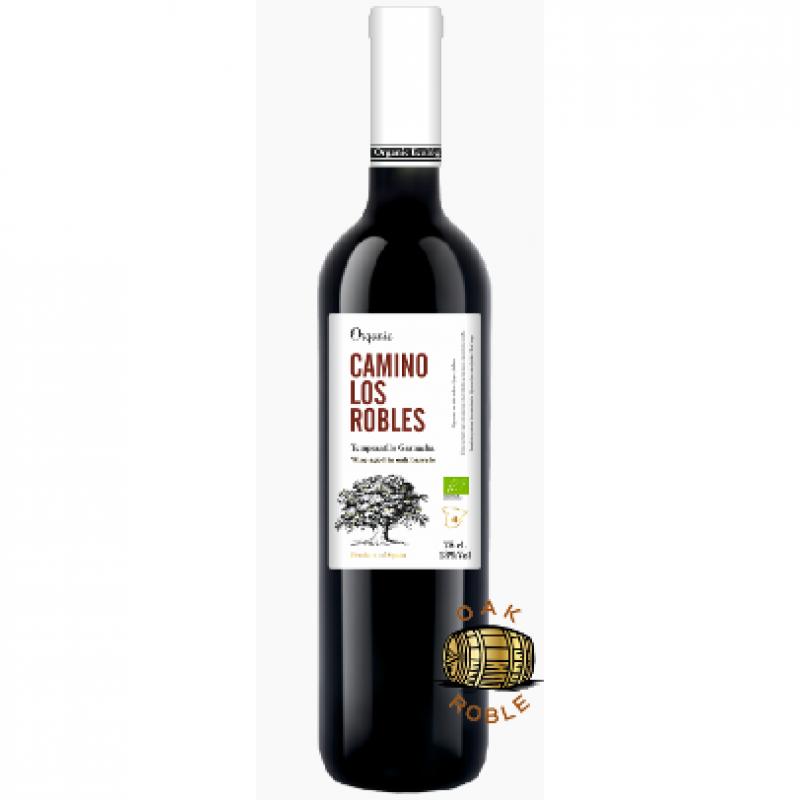 Вино красное сухое выдержанное Camino Los Robles Tempranillo Garnacha 2016 органическое 0,75 л