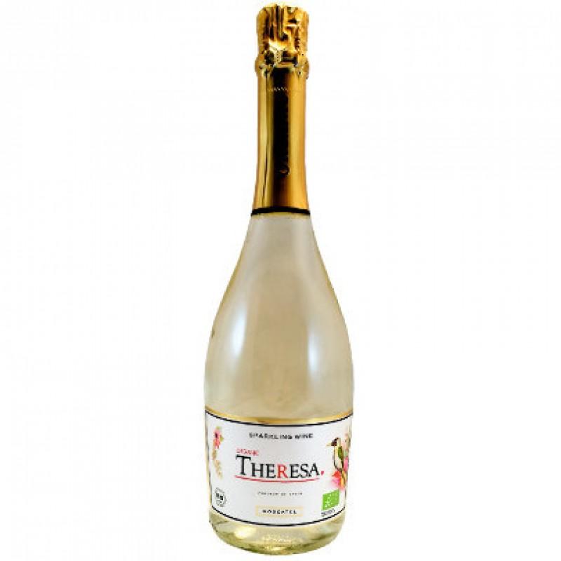 Вино игристое белое полусухое Theresa 2016 органическое 0,75 л