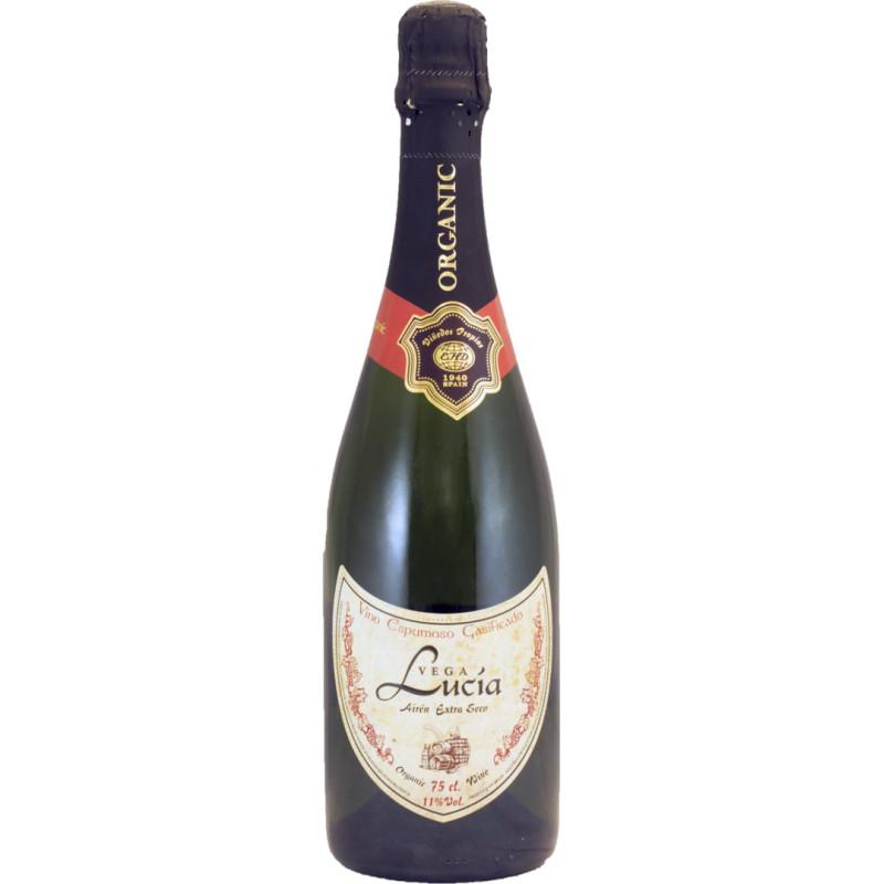 Вино игристое белое сухое Vega Lucia Airen органическое 0,75 л