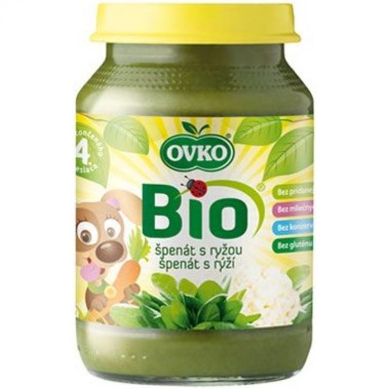 """Детское пюре """"Шпинат с рисом"""" OVKO стерилизованное органическое, 190 г"""