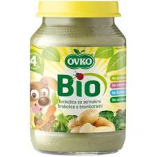 """Детское овощное пюре """"Брокколи с картофелем"""" OVKO стерилизованное органическое, 190 г"""