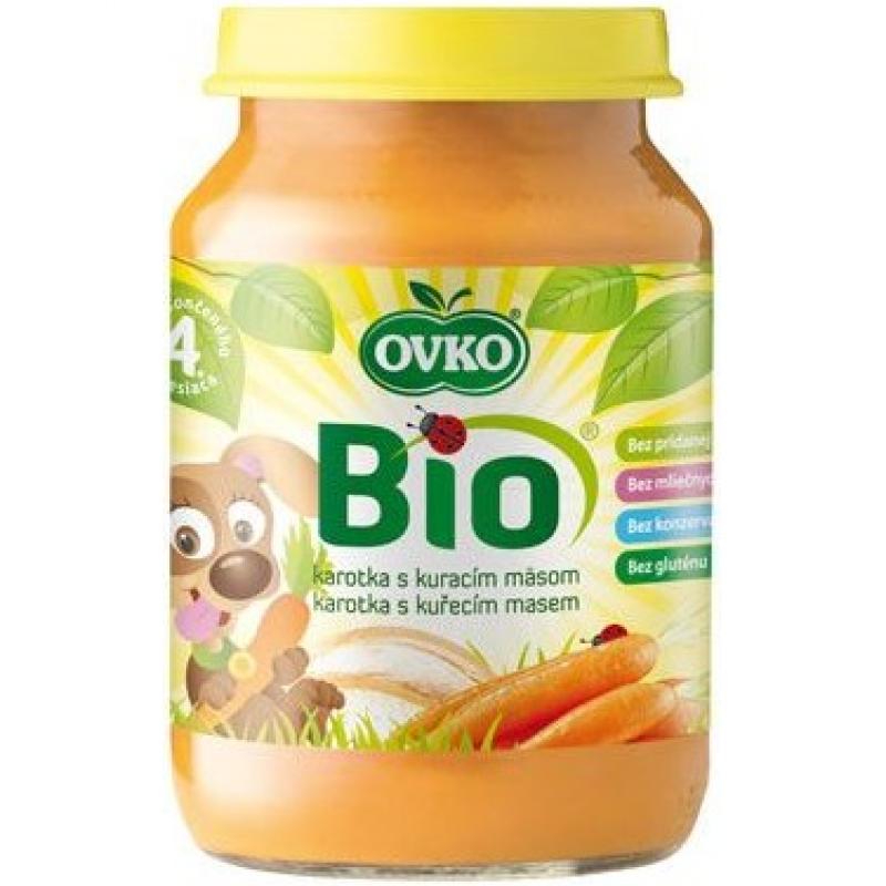 """Детское пюре """"Морковь с курицей"""" OVKO стерилизованное органическое, 190 г"""