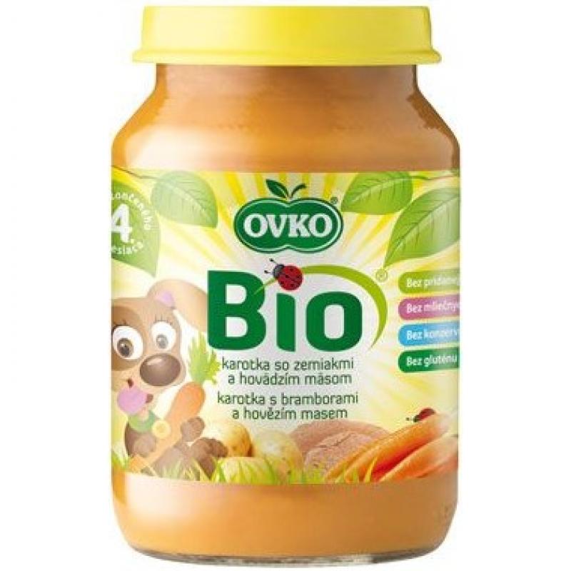 """Детское пюре """"Морковь с картофелем и говядиной"""" OVKO стерилизованное органическое, 190 г"""