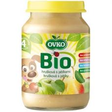 """Детское фруктовое пюре """"Груша-яблоко"""" OVKO стерилизованное органическое, 190 г"""