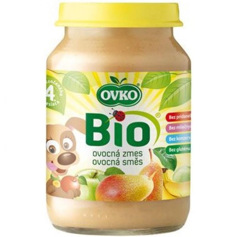 """Детское фруктовое пюре """"Груша, яблоко, банан"""" OVKO стерилизованное органическое, 190 г"""