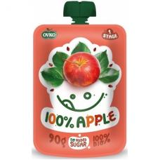 """Детское фруктовое пюре """"100% яблоко"""" OVKO стерилизованное органическое, 90 г"""