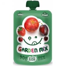 """Детское фруктовое пюре """"Садовый микс"""" OVKO стерилизованное органическое, 90 г"""