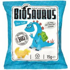 Кукурузные снеки с морской солью органические Biosaurus, 15 г