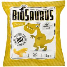 Кукурузные снеки с сыром органические Biosaurus, 15 г