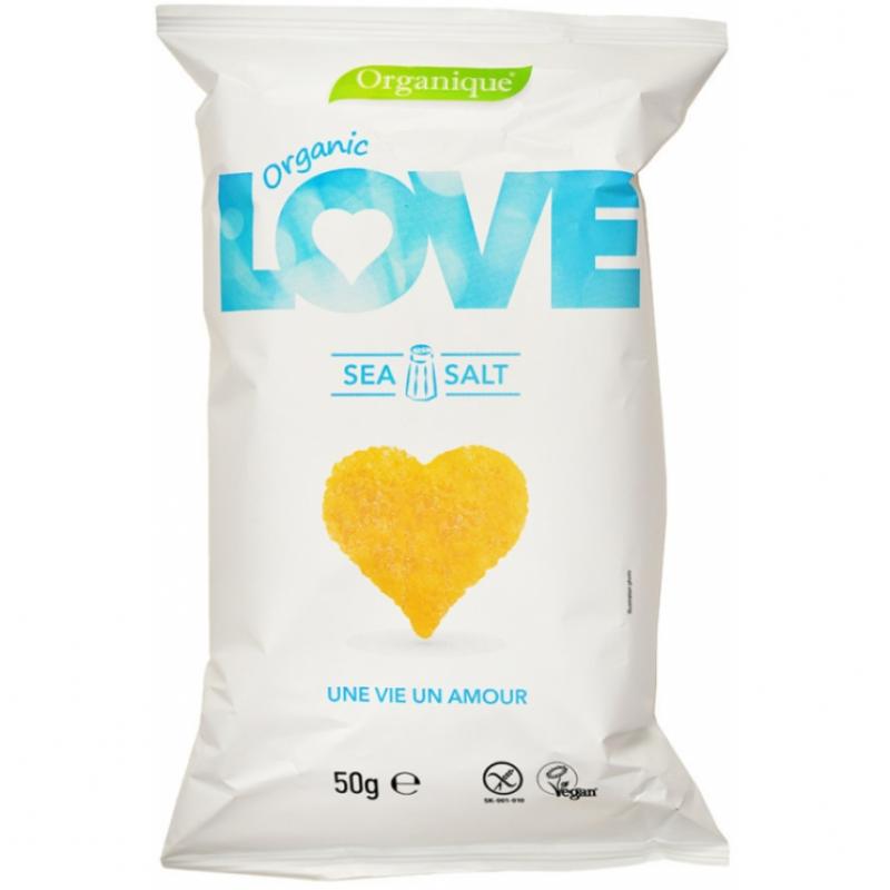 Кукурузные снеки с морской солью органические LOVE, 50 г