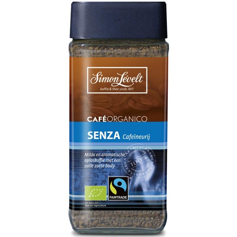 Кофе растворимый без кофеина Senza Simon Lévelt органический, 100 г
