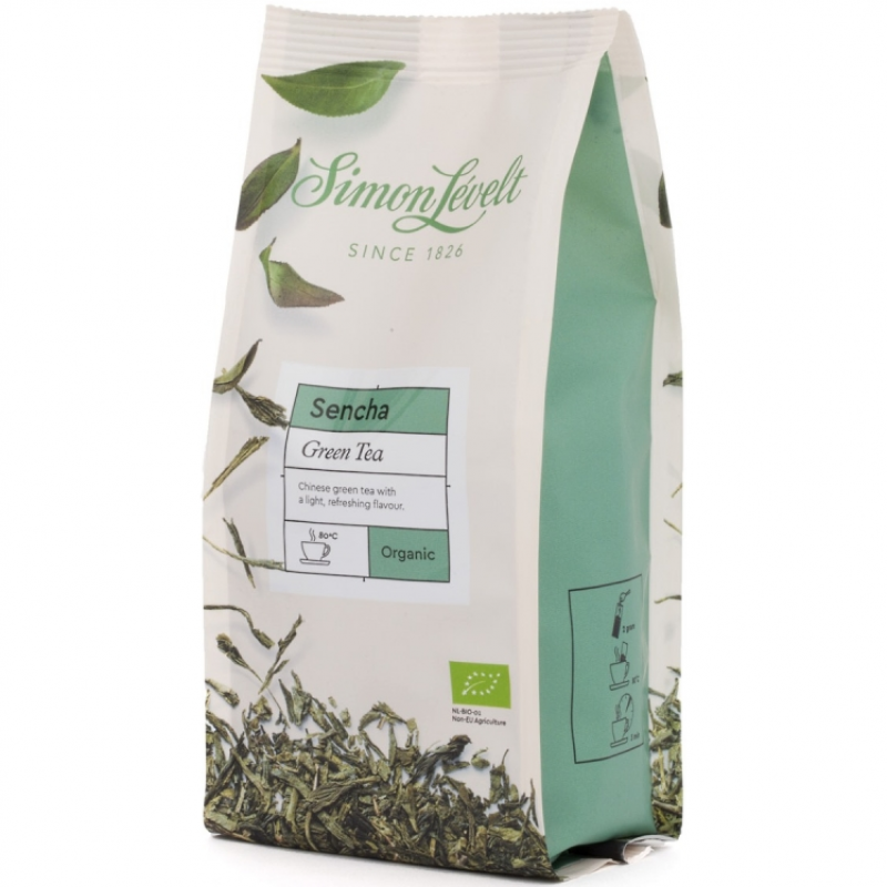 Чай зеленый Sencha Simon Lévelt листовой органический, 100 г