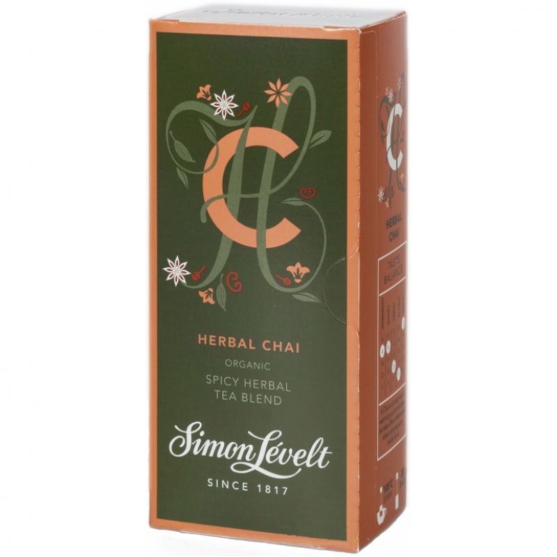 Чай травяной Herbal Chai Simon Lévelt органический, 20 пакетиков