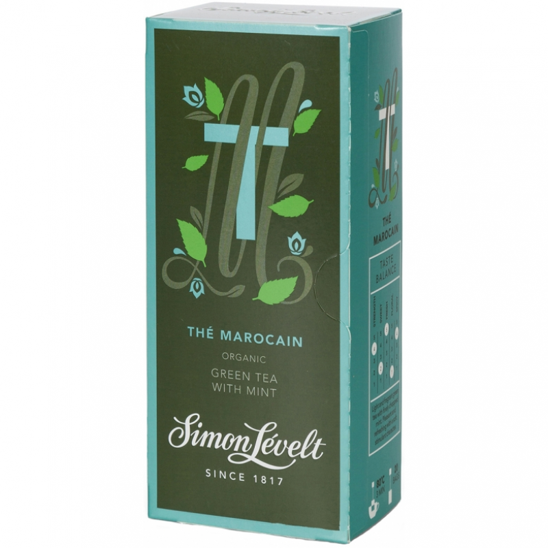 Чай зеленый Thé Marocain Simon Lévelt органический, 20 пакетиков