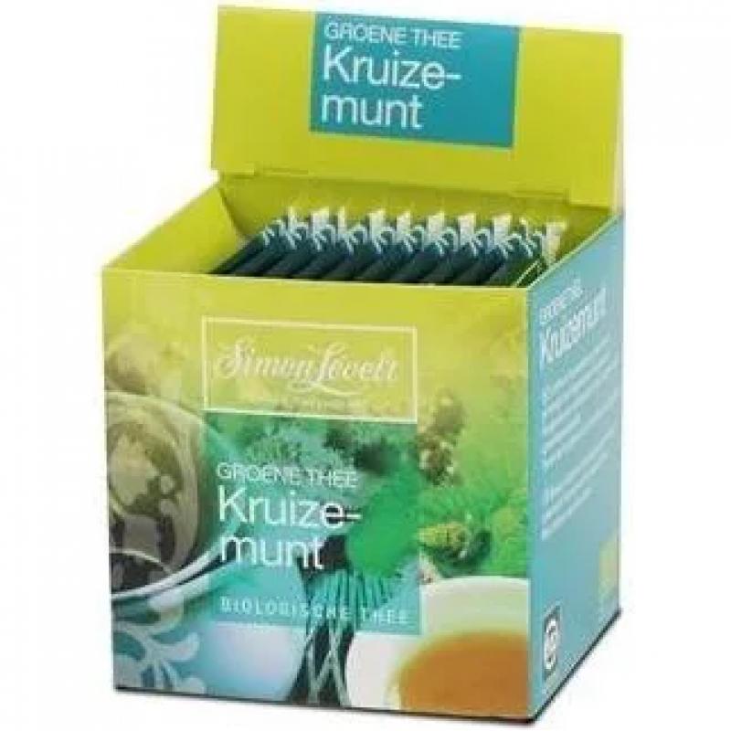 Чай зеленый Green Tea Mint Simon Lévelt органический, 10 пакетиков