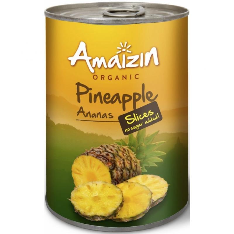 Ломтики ананаса Amaizin органические, 400 г