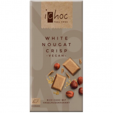Шоколад белый iChoc White Nougat Crisp с нугой органический, 80 г
