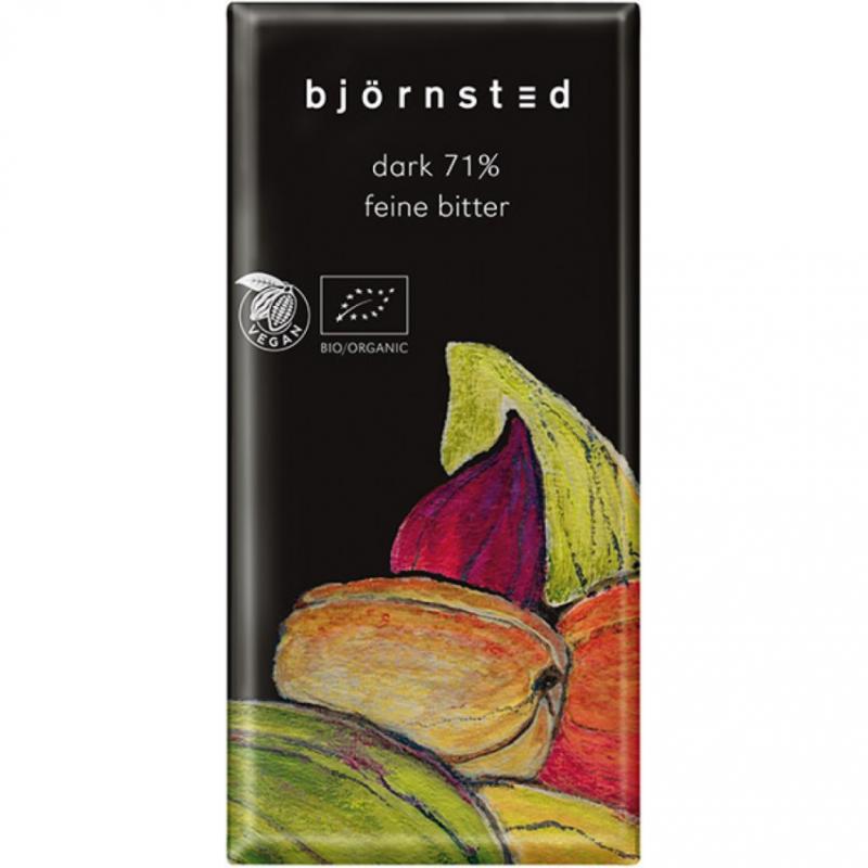 Шоколад чёрный (71%) Björnsted органический, 100 г