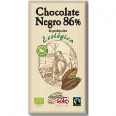 Шоколад чёрный 86% Chocolates Solé органический, 100 г
