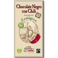 Шоколад чёрный 73% с перцем чили Chocolates Solé органический, 100 г