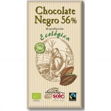 Шоколад чёрный 56% какао Chocolates Solé органический, 100 г