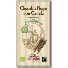 Шоколад чёрный 56% с корицей Chocolates Solé органический, 100 г