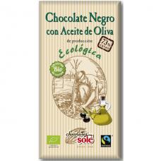 Шоколад чёрный 73% с оливковым маслом Chocolates Solé органический, 100 г